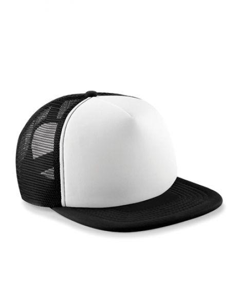 Junior Vintage Snapback Trucker - Kinderbekleidung - Kinder Caps & Mützen - Beechfield Black - White
