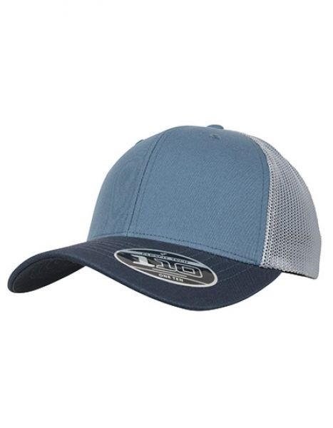 110 Trucker Cap - Caps - FLEXFIT Blue Tones - Indian Ink - Pearl Blue