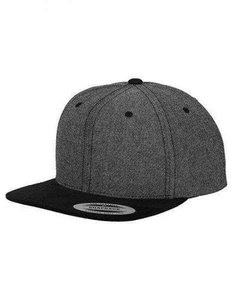 Chambray-Suede Snapback - Caps - 6-Panel-Caps - FLEXFIT Black - Black