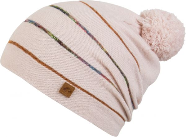 CHILLOUTS Ciro Kid Hat Kinder Bommel Mütze in Rose Wintermütze