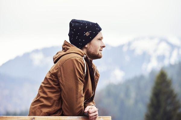 CHILLOUTS Drake Hat Herren Beanie Mütze in Schwarz Wintermütze