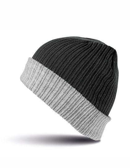 Double Layer Knitted Hat - Winteraccessoires & Mützen - Mützen - Result Winter Essentials Black - Grey