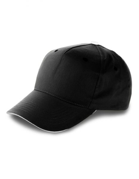 Baseball-Cap Anfield - Caps - 5-Panel-Caps - Printwear Black - White