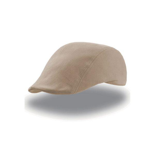 Unisex Flat Cap Beige Schiebermütze Schirmmütze Gatsby