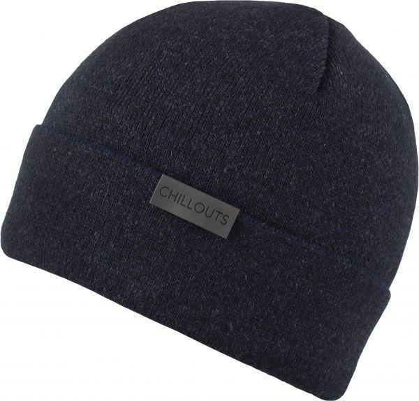 CHILLOUTS Kilian Hat Wintermütze in Navy Grau | Herren Strickmütze
