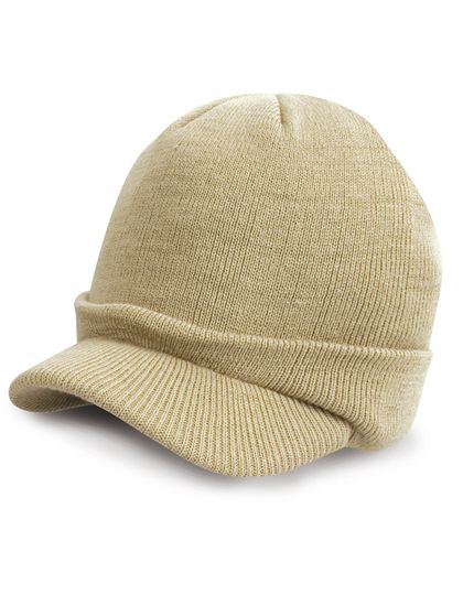 Youth Esco Army Knitted Hat - Kinderbekleidung - Kinder Caps & Mützen - Result Winter Essentials Desert Khaki