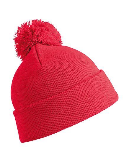 Pom Pom Beanie - Result Winter Essentials Red