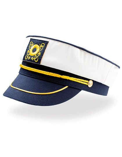 Captain Hat - Caps - Sonnenblenden & Schildmützen - Atlantis White - Navy