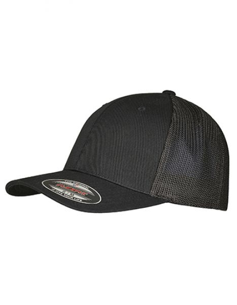 Flexfit Trucker Recycled Mesh Cap - FLEXFIT Black - Black