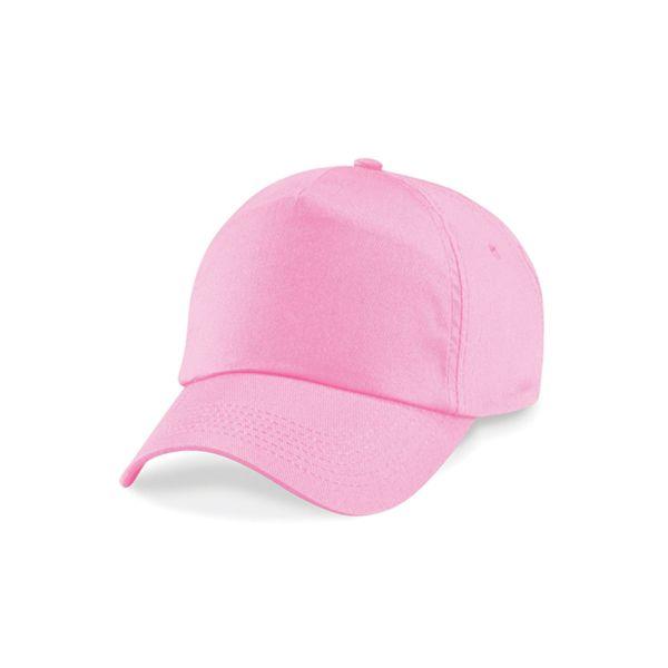 Unisex 5 Panel Cap Pink Baseball Mütze mit Klettverschluss