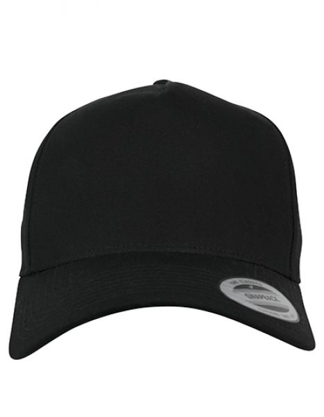5-Panel Curved Classic Snapback - FLEXFIT Black