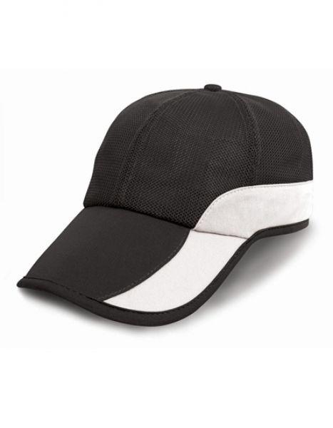 Addi Mesh Cap Under-Peak Pocket - Caps - 6-Panel-Caps - Result Headwear Black - White
