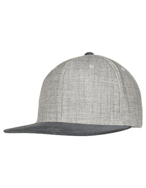 Melange Velour Snapback - FLEXFIT Grey - Grey
