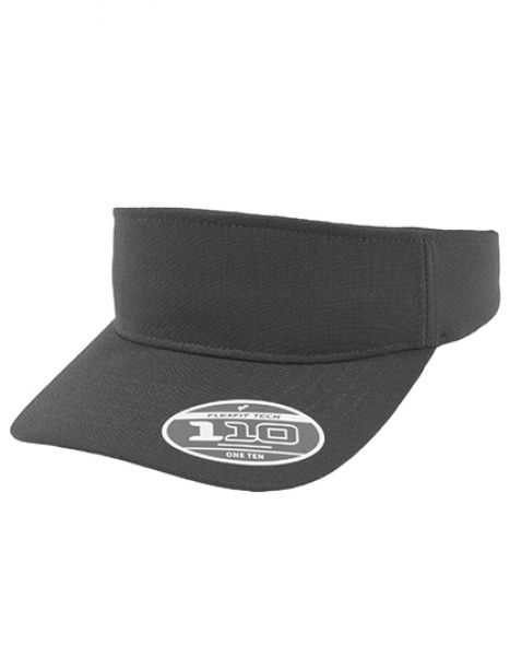 110 Visor Cap - FLEXFIT Black