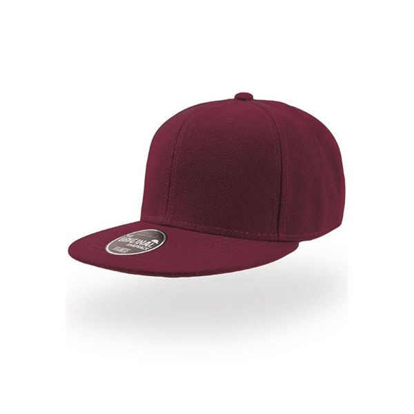 Unisex 6-Panel Cap Burgundy Snapback Cap Mütze