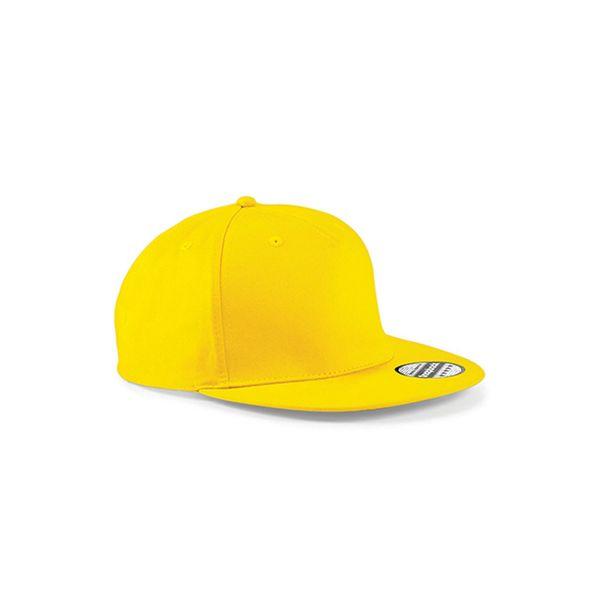 Unisex 5 Panel Cap Gelb Snapback Rapper Cap Mütze