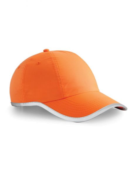 Enhanced-Viz Cap - Caps - 6-Panel-Caps - Beechfield Fluorescent Orange