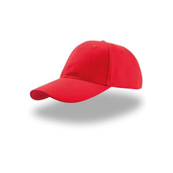 Unisex 6-Panel Cap Rot Baseball Cap Mütze