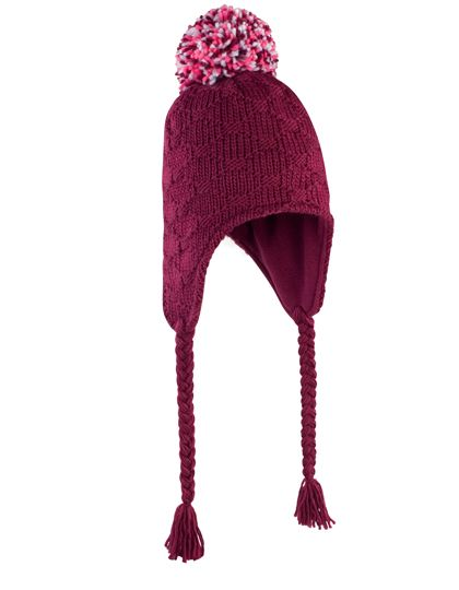 Glacier Pom-Pom Hat - Winteraccessoires & Mützen - Mützen - Result Winter Essentials Burgundy