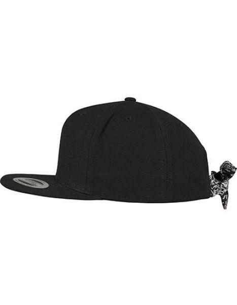 Bandana Tie Snapback - Caps - 6-Panel-Caps - FLEXFIT Black - Black