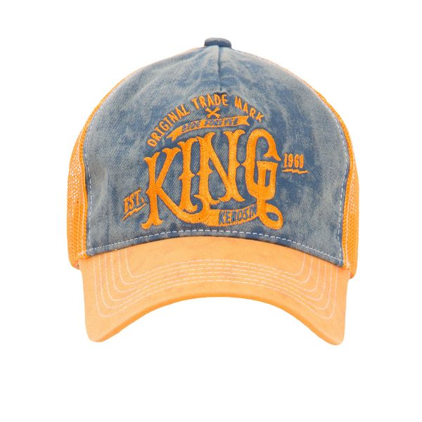 King Kerosin Herren Trucker Cap »Ride Forever« Vintage - blue/orange