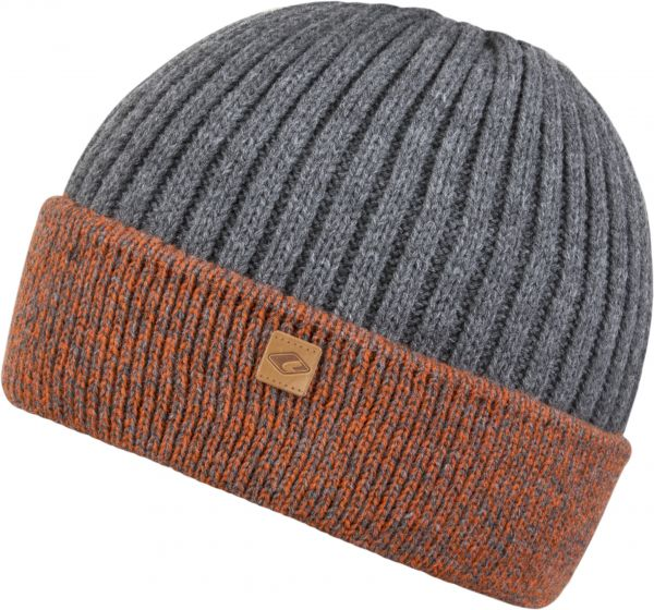 CHILLOUTS Felino Kid Hat Kinder Beanie Mütze in Orange/Grau Wintermütze