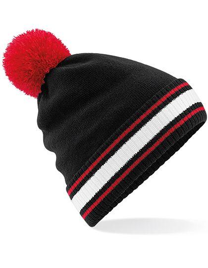 Stadium Beanie - Winteraccessoires & Mützen - Mützen - Beechfield Black - Classic Red - White