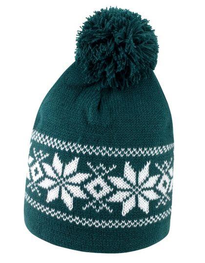 Fair Isle Knitted Hat - Winteraccessoires & Mützen - Mützen - Result Winter Essentials Arctic Green - White