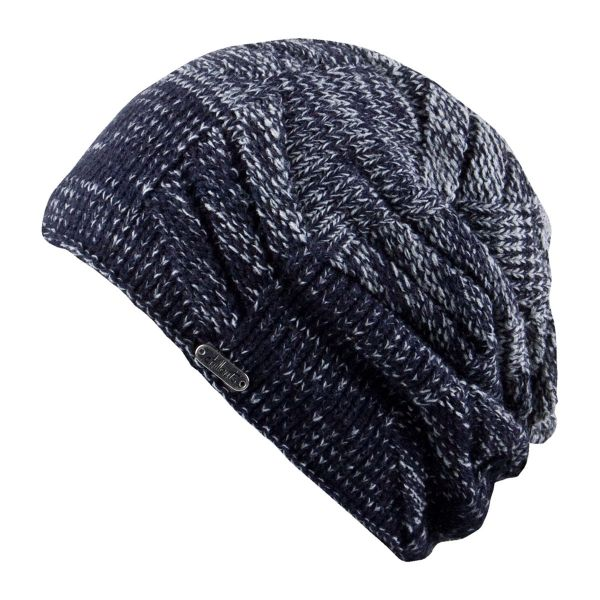 CHILLOUTS Jordon Hat Wintermütze in Navy Grau | Strickmütze