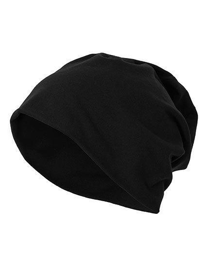 Jersey Beanie - Winteraccessoires & Mützen - Mützen - Build Your Brand Black