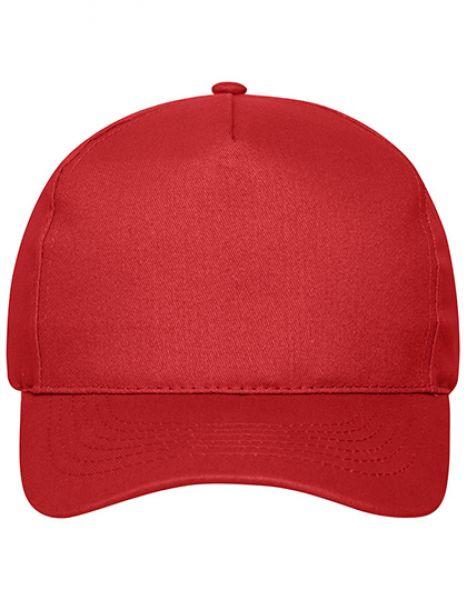 5 Panel Cap Bio Cotton - Myrtle beach Red