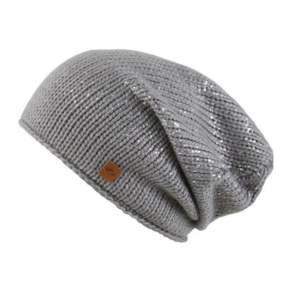 CHILLOUTS Aileen Hat Wintermütze in Grau Silber Metallic | Beanie Mütze