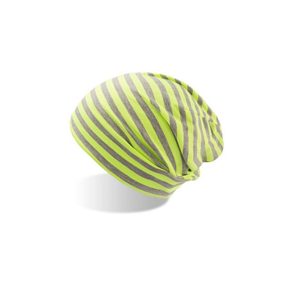 Unisex Beanie Grau Gelb Leichte Mütze Wintermütze Strickmütze