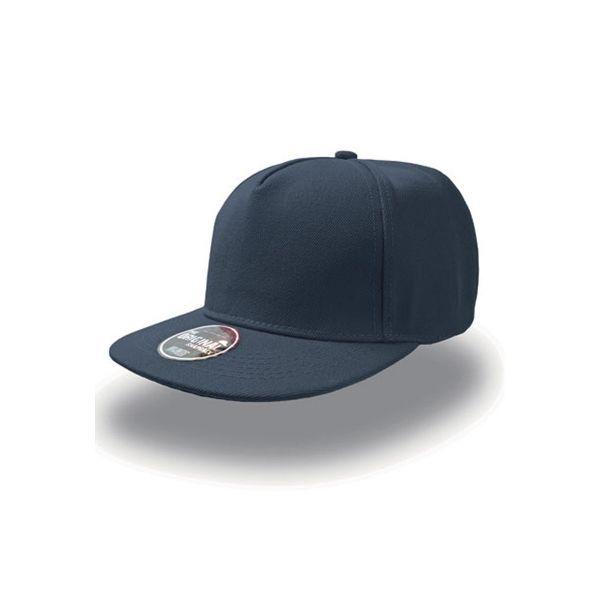Unisex 5-Panel Cap Navy Blau Snapback Cap Mütze