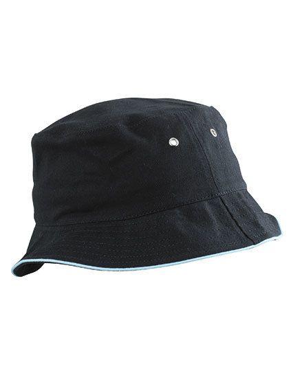 Fisherman Piping Hat - Caps - Hüte - Myrtle beach Black - Mint