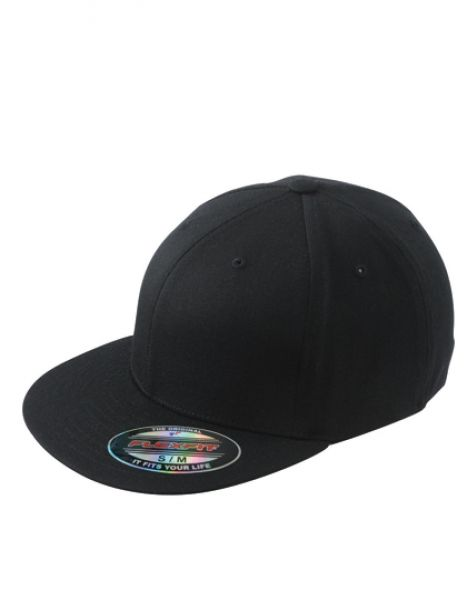 6 Panel Flexfit® Flat Peak Cap - Caps - 6-Panel-Caps - Myrtle beach Black