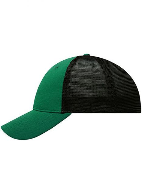 6 Panel Elastic Fit Mesh Cap - Myrtle beach Green - Black