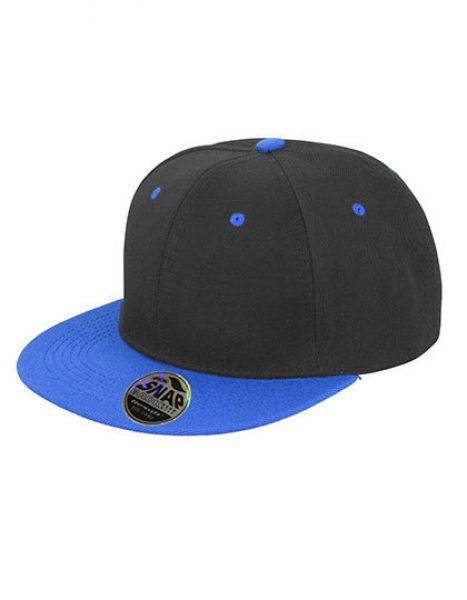 Bronx Original Flat Peak Snapback Dual Colour Cap - Caps - 6-Panel-Caps - Result Headwear Black - Azure