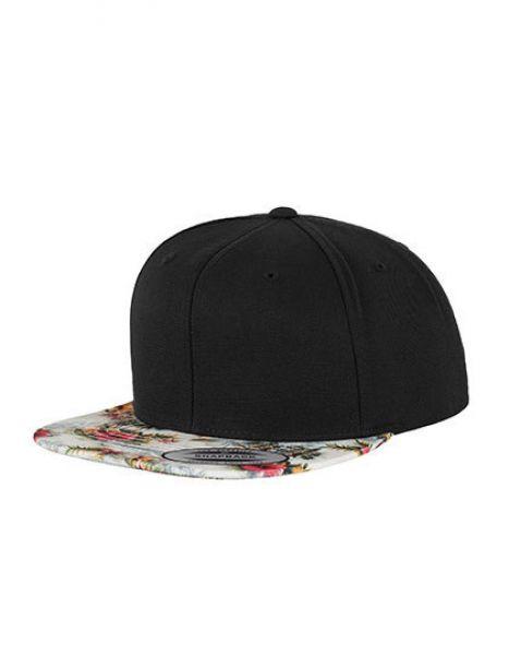 Floral Snapback - Caps - 6-Panel-Caps - FLEXFIT Black - Mint (Floral)