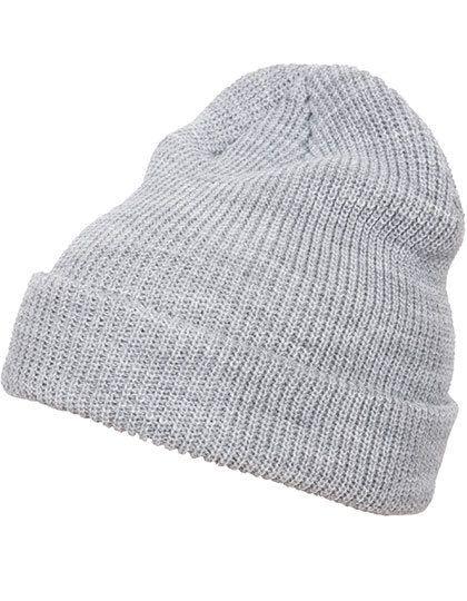Long Knit Beanie - Winteraccessoires & Mützen - FLEXFIT Heather Grey