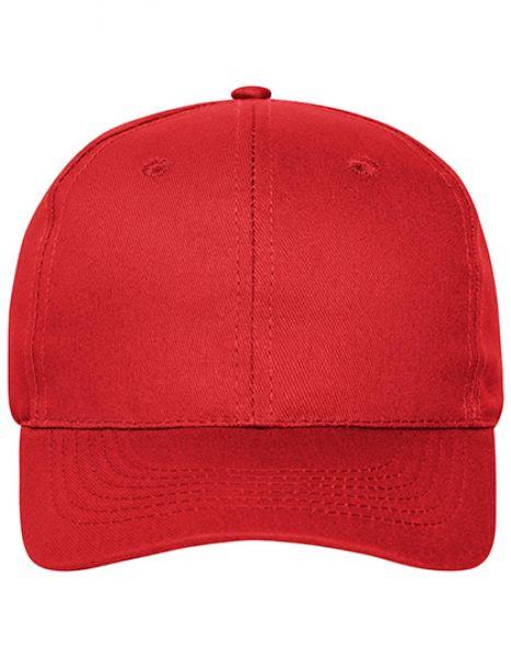 6 Panel Cap Bio Cotton - Myrtle beach Red