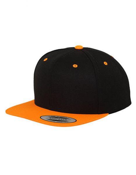 Classic Snapback 2-Tone - Caps - 6-Panel-Caps - FLEXFIT Black - Neon Orange