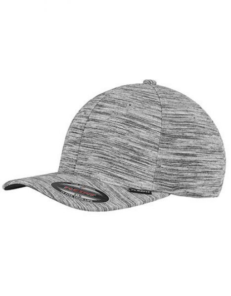Stripes Melange Flexfit Cap - Caps - 6-Panel-Caps - FLEXFIT Black - Heather Grey