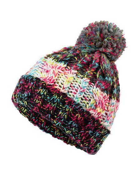 Fancy Yarn Hat - Myrtle beach Black Melange