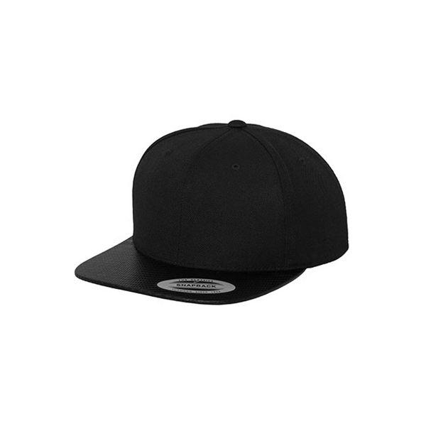 Unisex 6-Panel Cap Carbon Snapback Cap Mütze