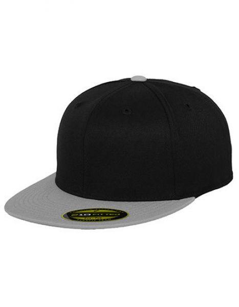Premium 210 Fitted 2-Tone - Caps - 6-Panel-Caps - FLEXFIT Black - Grey