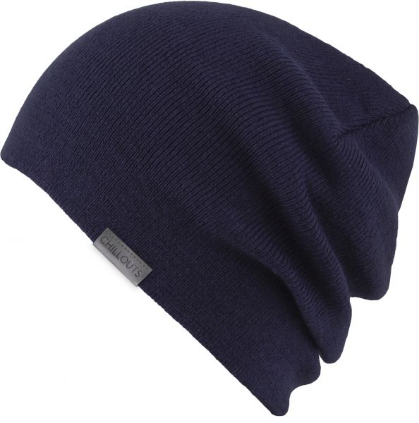 CHILLOUTS Levin Hat Herren Wintermütze in Navy | Beanie Cramp Mütze