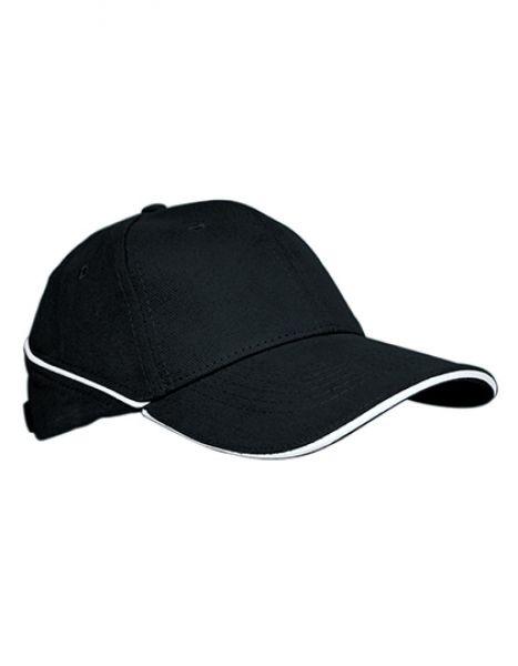 Cap White-Stripe - Caps - 6-Panel-Caps - Printwear Black