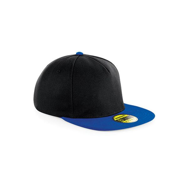 Unisex 5-Panel Cap Schwarz Blau Snapback Cap Mütze
