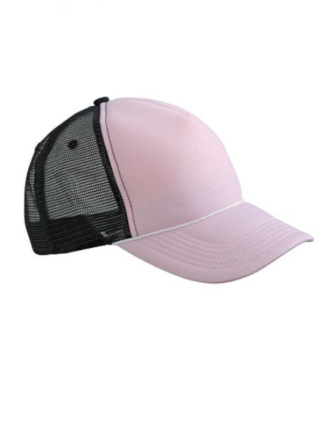 5 Panel Retro Mesh Cap - Caps - Netz- & Sport-Caps - Myrtle beach Baby Pink - Black
